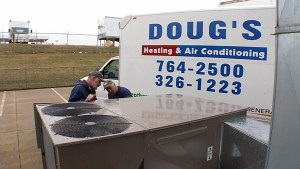 Doug's Heating and Air Van