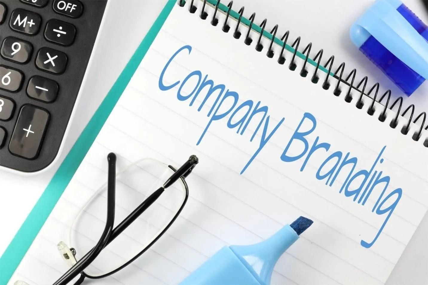 company branding title