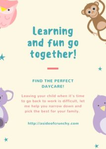 finding the perfect daycare