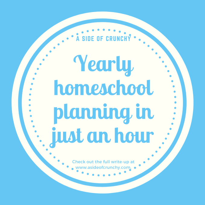 yearly homeschool planning in just one hour
