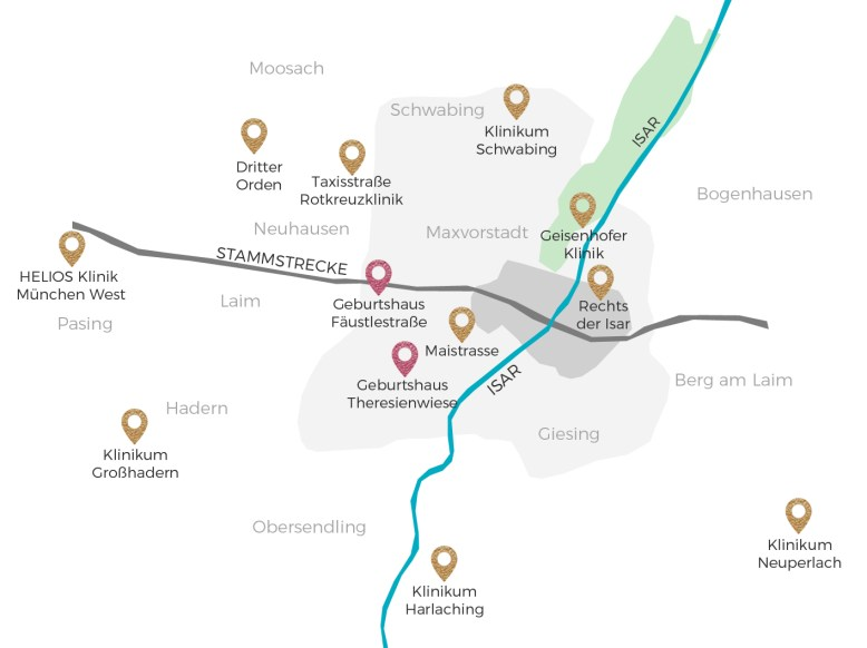 munich clinic map