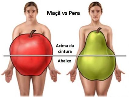 Homem Mulher Distribuição de Gordura. Mulheres têm menos chance de desenvolver câncer por obesidade.