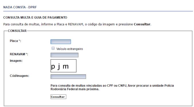 multas PRF site
