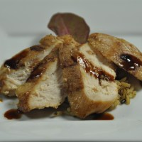 Cocoa Raspberry Balsamic Glazed Grilled Chicken