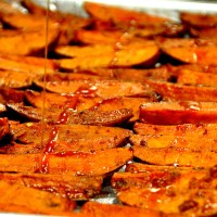Roasted Caribbean Sweet Potatoes