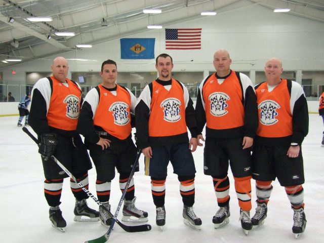 Dover Police Officers/F.O.P. Team members (Left to Right) MCpl. David Gist, Cpl. Mark Hoffman, Pfc. Chris Peer, MCpl. Harvey Jaksch, Cpl. Brian Allen.
