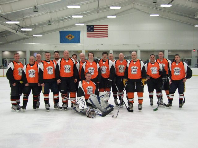 The Dover Fraternal Order of Police 2014 Ice Hockey Team