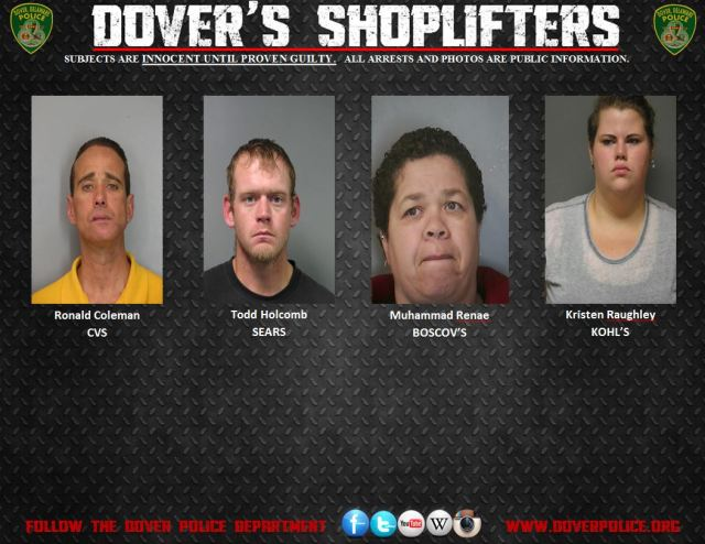 Shoplifting Arrests 11/6/14-11/13/14