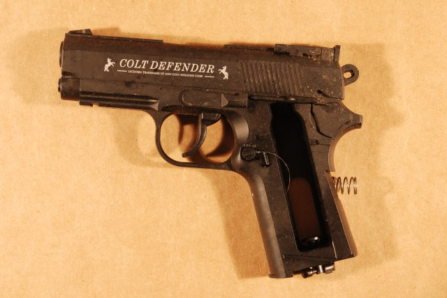 Photo of the pellet gun used by James Long