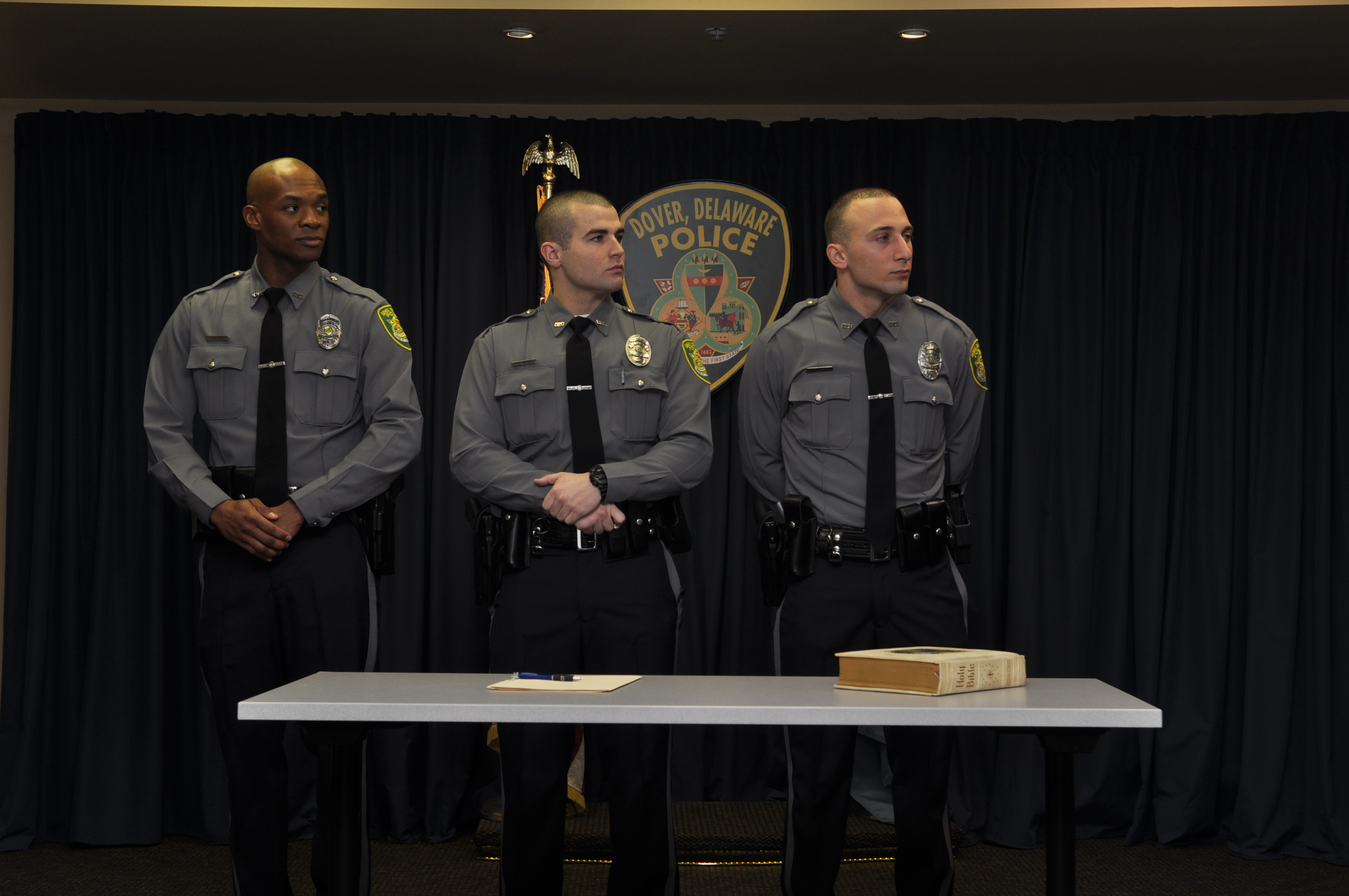 Dover Police Graduate Three from Delaware State Police