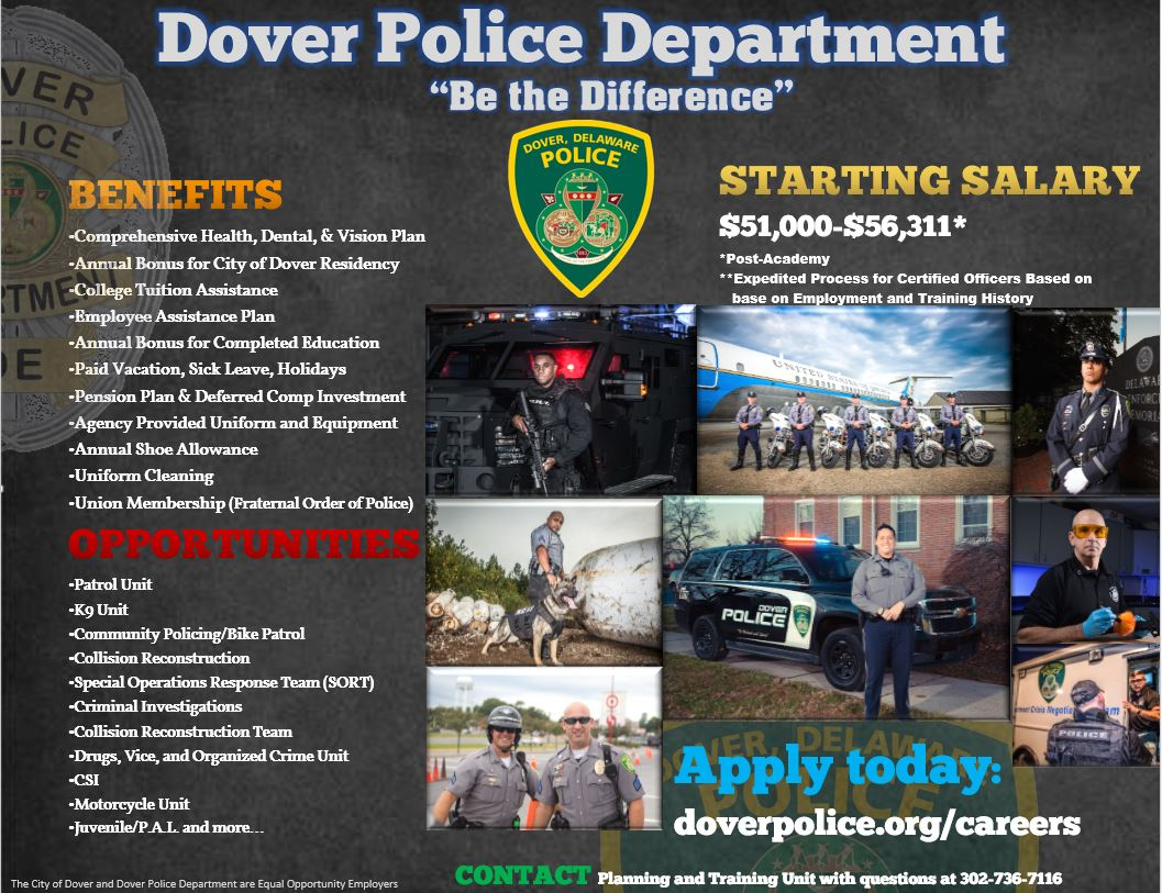 Victim Specialist Cover Letter Careers City Of Dover Police Department