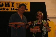 """Jim and Liz performing """"Aging Gratefully"""""""