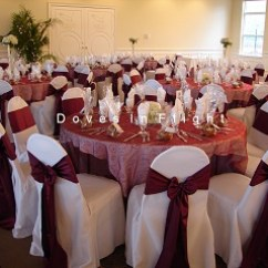 Ivory Chair Covers With Gold Sash Light Blue Dining Of Lansing / Doves In Flight Decorating