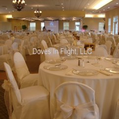 Ivory Chair Covers With Gold Sash Amazon Table And Chairs Of Lansing Doves In Flight Decorating