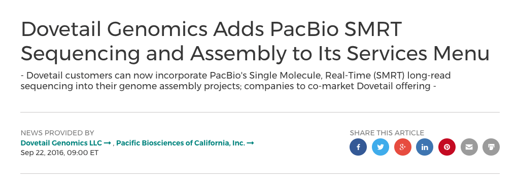 PacBio Sequencing Added