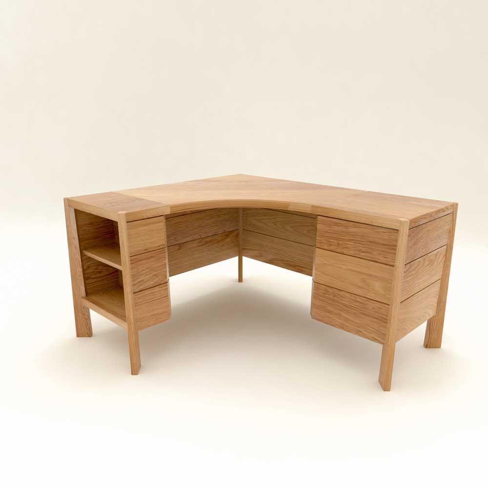 Corner Desk in Oak  the stylish desk  Dovetailors