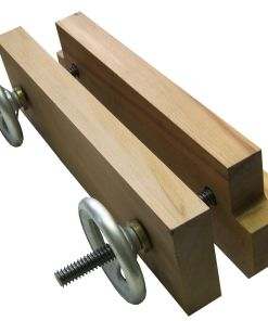 YORK Moxon Vice with wooden Jaws and 2 Spindles