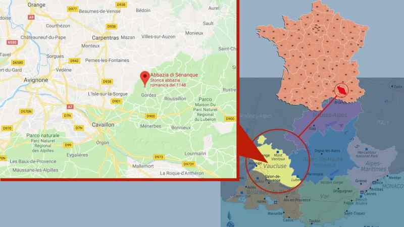 senanque Mappa