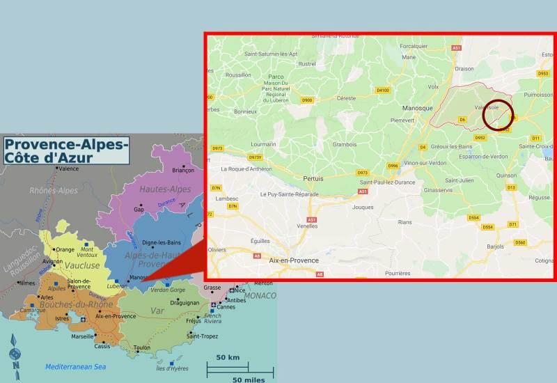 Provence valensole map