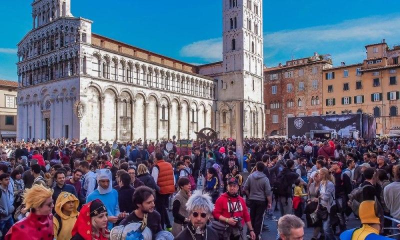 Lucca Comics Games piazza San Michele