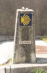 marker 20 km from santiago