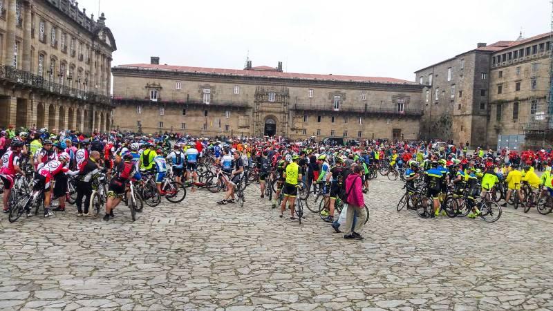 Ciclisti a Santiago