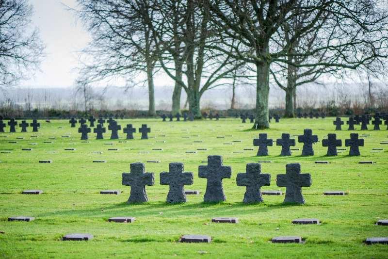 German Cemetery landing beaches