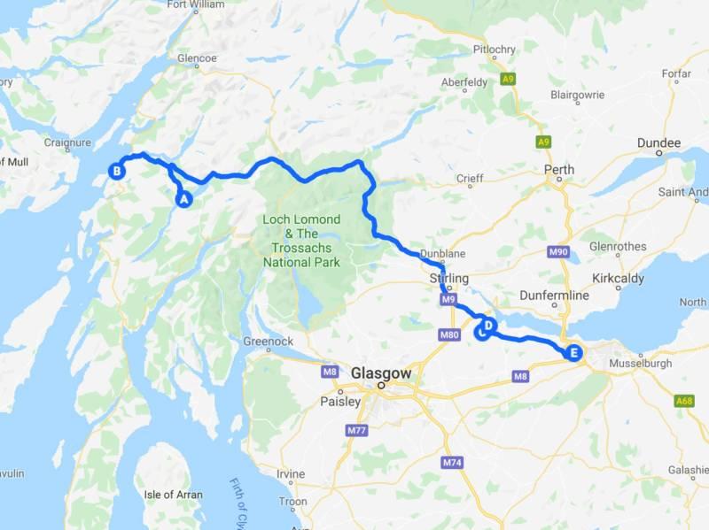 Tour Scotland by car - last day