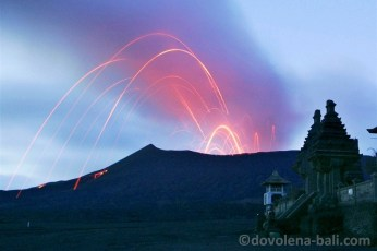 Sopka Bromo erupce
