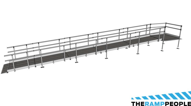 Modular Kit with Platform and Double Height Handrails