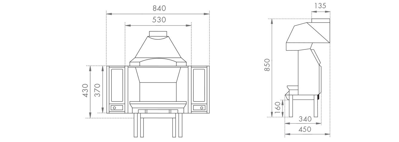 Dovre 1800 Multi-Fuel Fireplace
