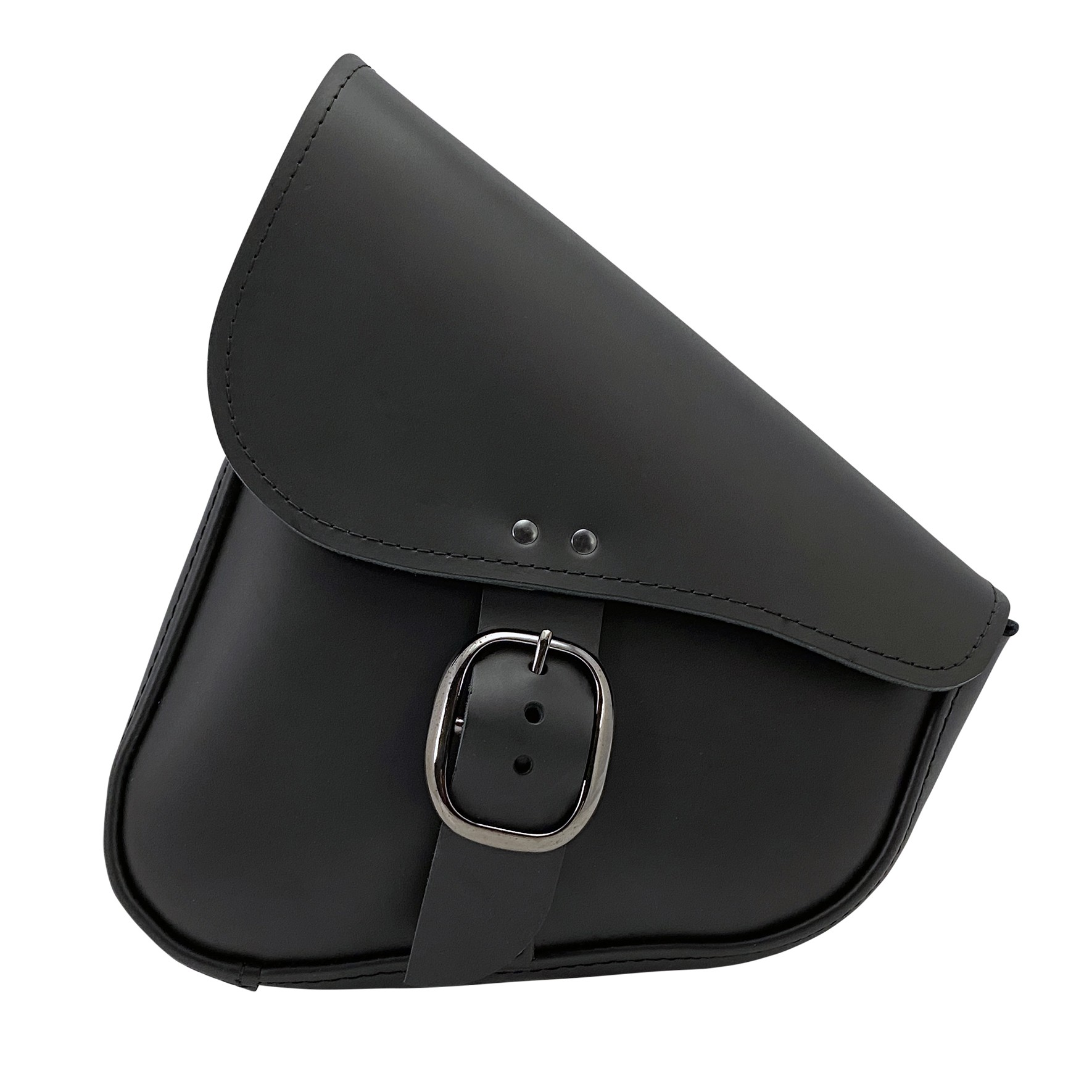 Willie and Max Leather Swingarm bag with black chrome buckle