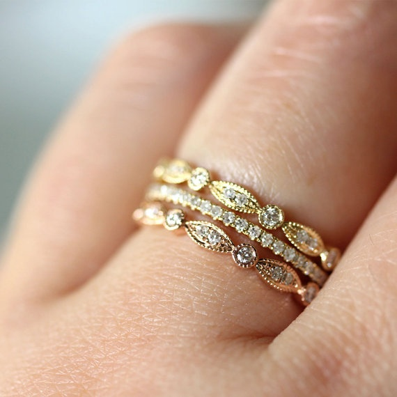 Trend Stacked Wedding Ring{s}  Say Yes Events