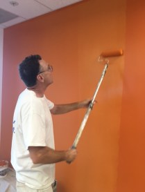 painter, paint, bright color, medical office, TI, tenant improvement, Dowling Construction