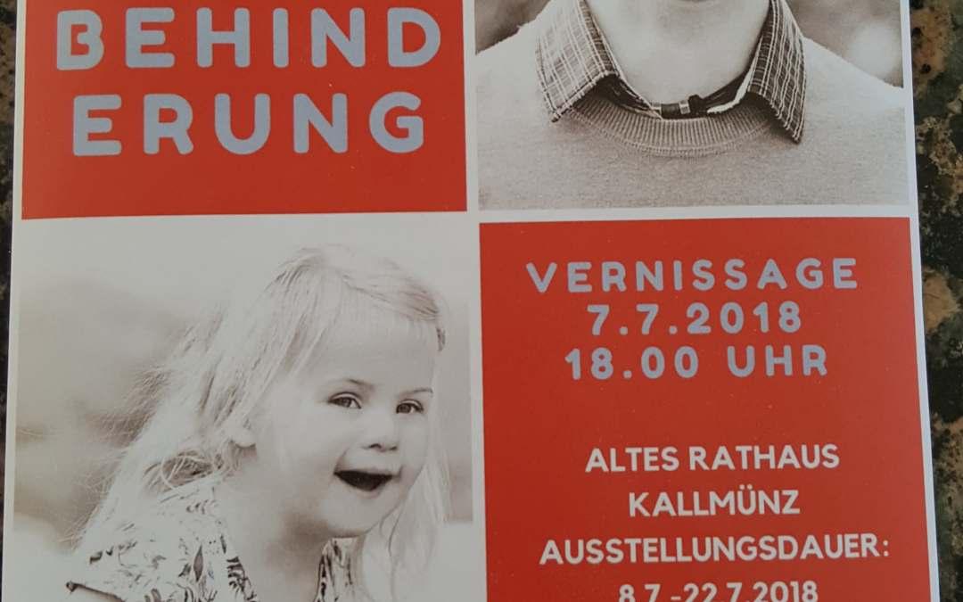 Glück Kennt Keine Behinderung – Ausstellung von 7.7 – 22.7 in Alterathaus Kallmünz