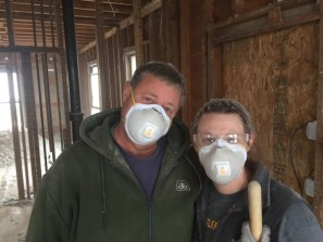 You may think Dad and I got caught out in the snow. NOPE. That is insulation. Everywhere.