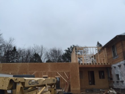 Tuesday: 2nd story of addition going up