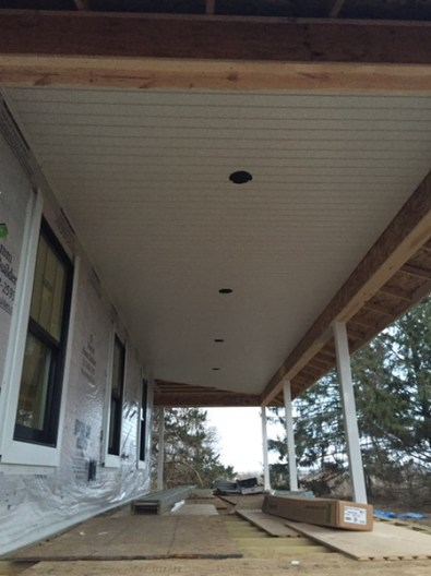 East side of the house -soffit!