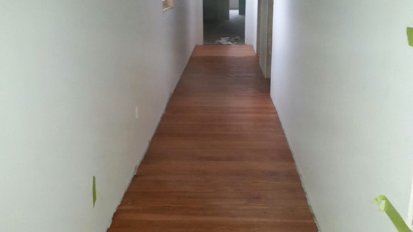 Stain on the floors upstairs!