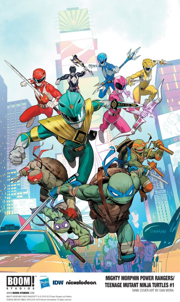 Power Rangers/TMNT #1 Cover
