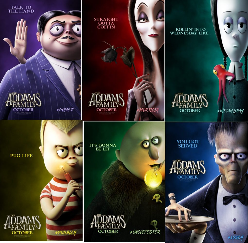 The Addams Family (2019) Character Posters