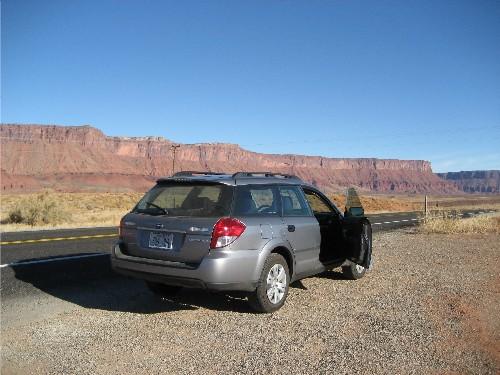 Subaru in Canyon Country