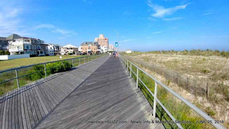 Overgrown, Non-Compliant Dunes Along Ventnor Boardwalk