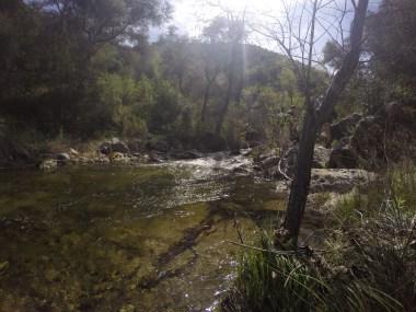 River hike.