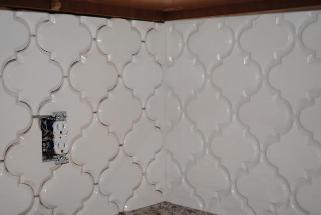 how to install beveled arabesque tile