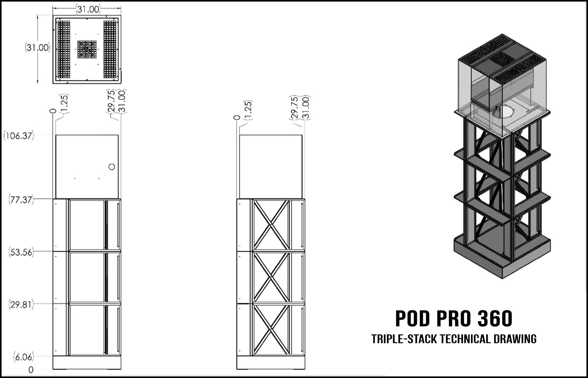 The Pod Pro 360 Series Downdraft