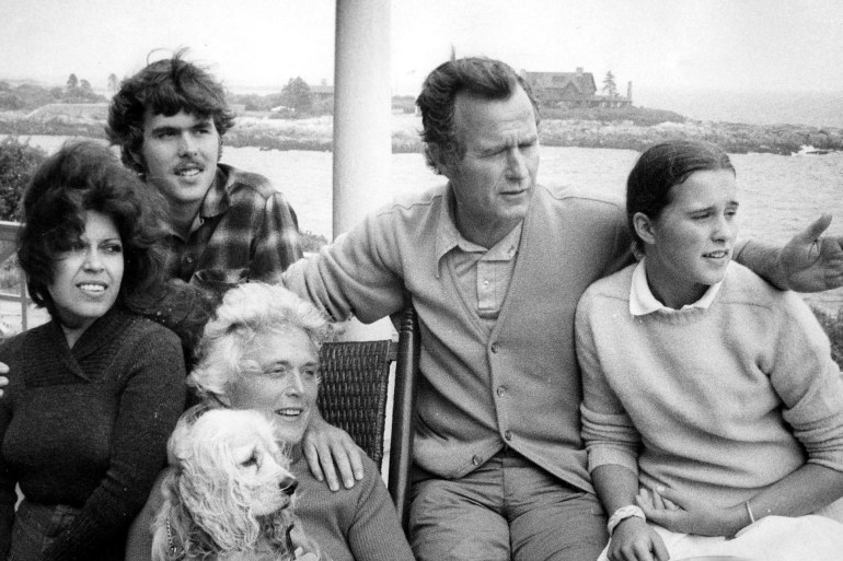 George H. W. Bush and family