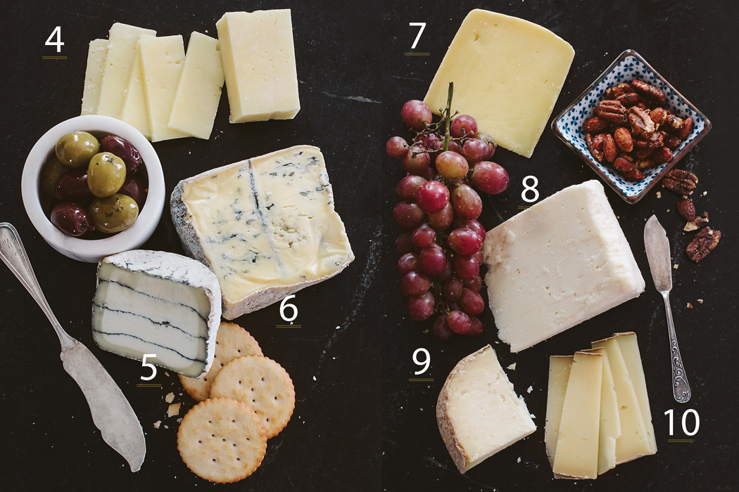 An Assortment of cheese