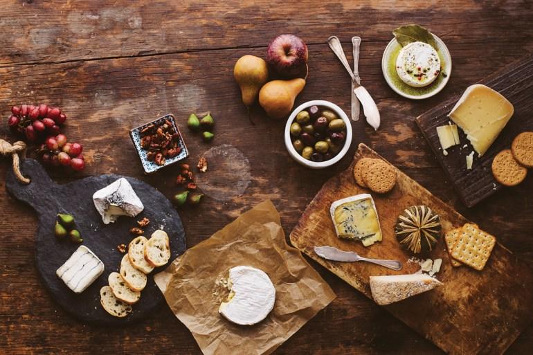 An Assortment of cheese