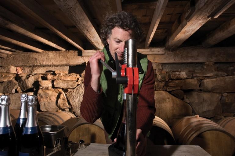 Eric Martin corks bottles for Bluet